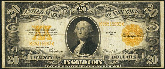 1922-20-gold-certificate-fine